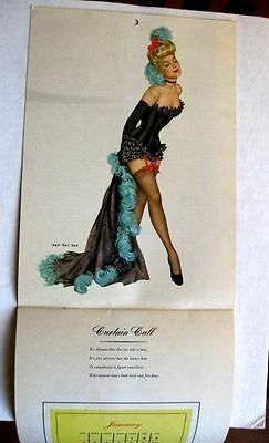 1948 Esquire Full Year Pin Up Girl Calendar Various Famous Artists
