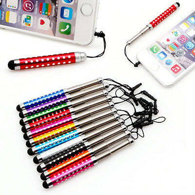 Stylus Retractable Capacitive Touch Screen Pen Diamond For iPhone iPad Tablet PC