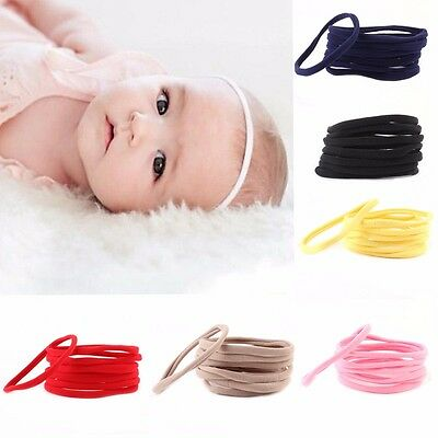 10Pcs DIY Kids Baby Girl Headband Toddler Elastic Hair Band Accessories Headwear