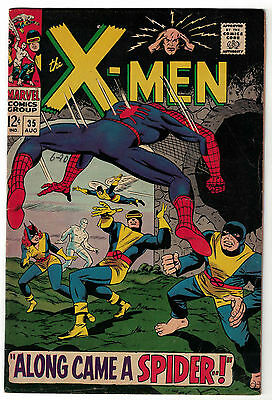 Marvel Comics THE X-MEN Issue 35 Along Came A Spider! Spider-Man Appearance VG