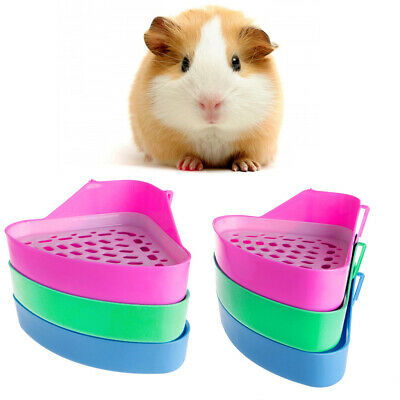Pet Cat Rabbit Small Animal Pee Toilet Potty Bowl Corner Clean Litter Trays Hot