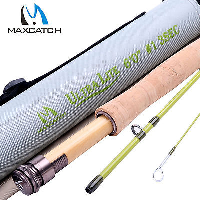 Maxcatch 1WT 6FT 3Sec Medium-Fast Graphite (IM10) Fly Fishing Rod & Rod Tube
