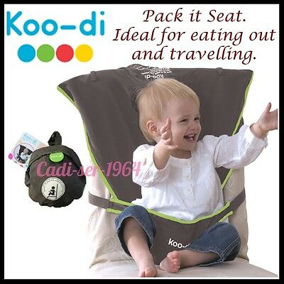 Koo-Di Pack It Seat Me Safe Baby Travel Booster Feeding Support Chair NEW