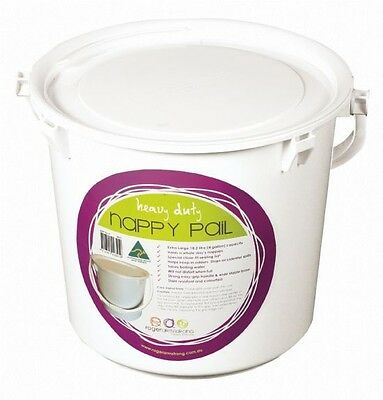 NEW Roger Armstrong Nappy Disposal Pail Bucket White #`NAV3PW