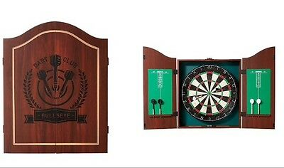 New Pub style Dartboard With Cabinet 2 Set Of Darts