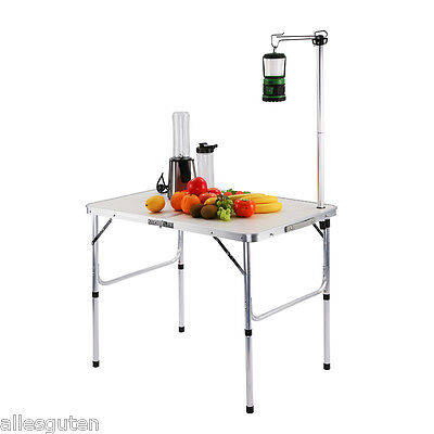 Portable Outdoor Indoor Folding Camping Picnic BBQ Table Room w/ Adjustable Pole