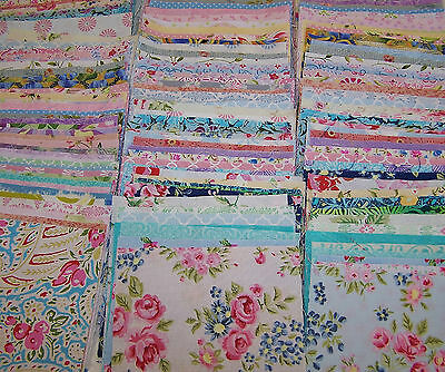 Charm Pack 64 5 Inch Squares  32 Patterned 32 White 100% Quilting Cotton
