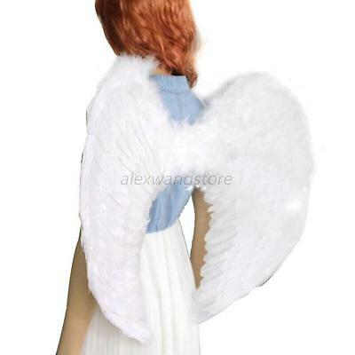Fancy Dress up Costume Angel Wings Outfit Fairy Feather Large Adult Party Hen