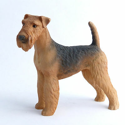 Airedale Terrier Vintage North Light Dog Figurine Ornament Made In England