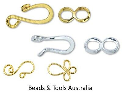 Clasp - Hook & Eye - 10 clasps or 144 clasps - Beading & Jewellery Making