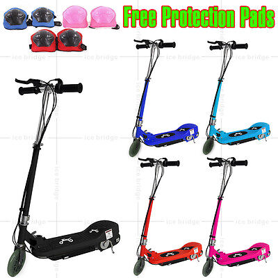 Kids Electric E Scooter Ride On Cars 120W 24V Blebattery Outdoor Toy Adjustable