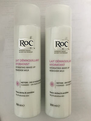 2 x RoC Hydrating Make-Up Remover Milk 200ml