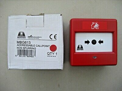 £42.00 Menvier MBG613 Addressable Call Point