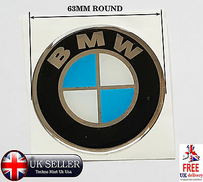 BMW Logo Vinyl Decals Stickers For Car & Motorbike  Smooth Surface PAIR