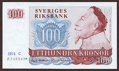 Schweden / Sweden 100 Kronen 1974 Replacement Pick 54r2 (1)