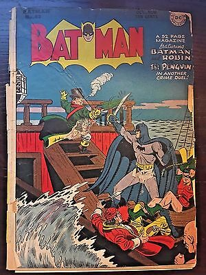 Batman (1940) #43 1.8 GD- Good- Golden Age DC Detective Comics Penguin