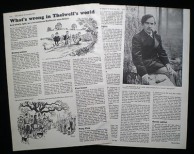 NORMAN THELWELL CARTOONIST ILLUSTRATOR 2pp ARTICLE 1971