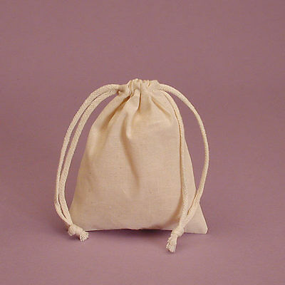 Muslin Bags Drawstring Unbleached Natural Cotton Pouches Gift Bags Wedding Favor