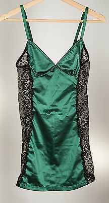 NEW Sexy Lace BABYDOLL Camisole, Emerald GREEN, Size S