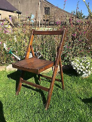 Vintage Folding Wooden Chair Appx 1940'S Shop Display Prop