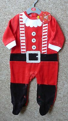 Baby christmas santa suit velour all in one xmas festive MOLLIE & JOE DESIGNS