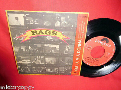 RAGS Sei la mia donna (BEE GEES cover) 45rpm 7' + PS 1968 ITALY BEAT MINT