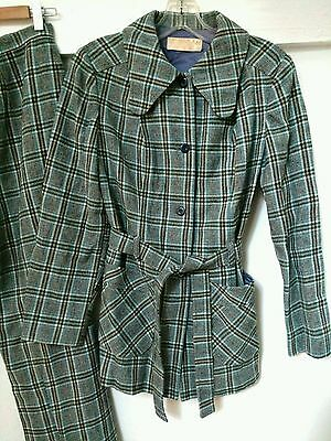Vintage 1970's Pendleton Plaid Pantsuit - Women's Size 3-4 - Chic & Cheeky!