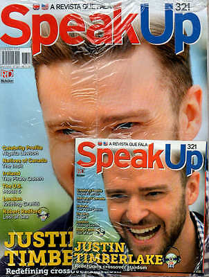 JUSTIN TIMBERLAKE Speak Up MAG WITH CD = RARE Magazine Brazil Interview AUDIO CD