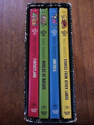The Wonderful World of Walt Disney 4 Book Collection With Sleeve. (1965)