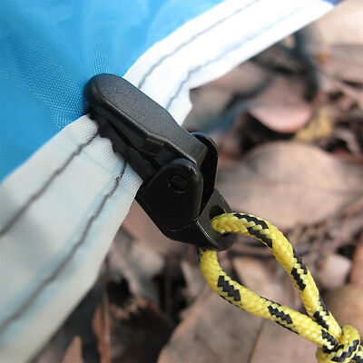 10x Awning Clamp Tarp Clips Snap Hangers Tent Camping Survival Tighten Tool