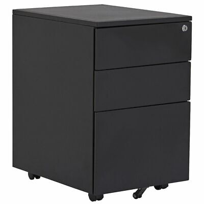 Stilford 3 Drawer Mobile Filing Pedestal Black