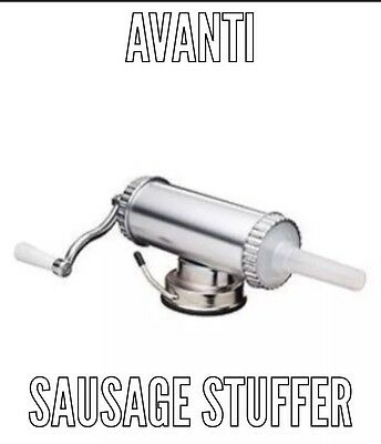 NEW AVANTI MANUAL SAUSAGE MAKER WITH SUCTION BASE Snag Mince Filler