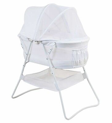 NEW ValcoBaby Rico Baby Bassinet Portable Travel Cot Baby Bed White #`N8902