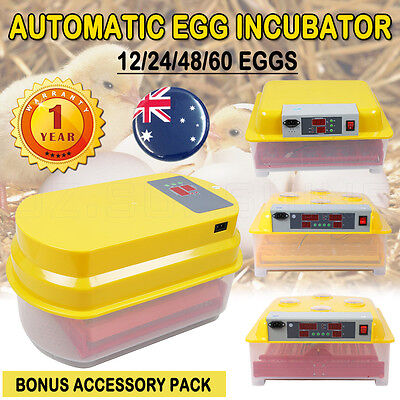 New Fully Automatic Egg Incubator Digital LED Turning Poultry Chicken Duck Goose