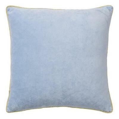 BLOOMINGVILLE Velour Cushion with Gold Piping Winter Sky