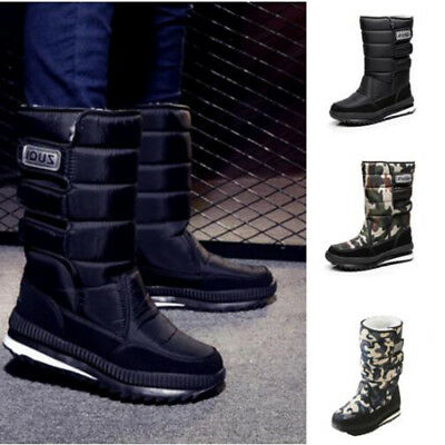 Men / women Warm Winter Boots Snow Boots Waterproof Boots Black/Camouflage