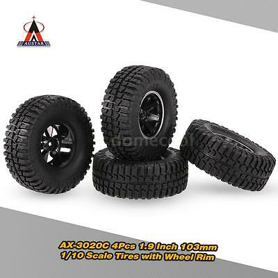4Pcs AUSTAR AX-3020C 1.9 Inch  103mm 1/10 Scale RC Tires with Wheel Rim G4T8
