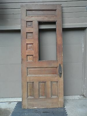 Antique Oak Entrance Door