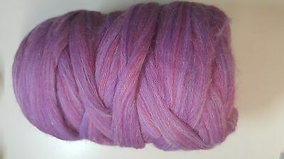 Wool Sliver #925 Berry Mix Ready to Spin or Felt 50g