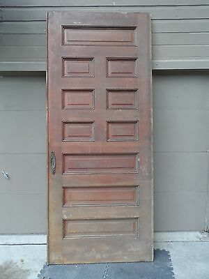 Antique Oak Oversize Pocket or Swing Door. Raised Panel.