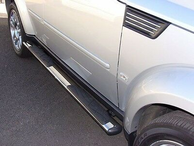 """Dodge Nitro 2007 to 2013 4.5"""" Oval Stainless Steel Side Step Running Boards"""