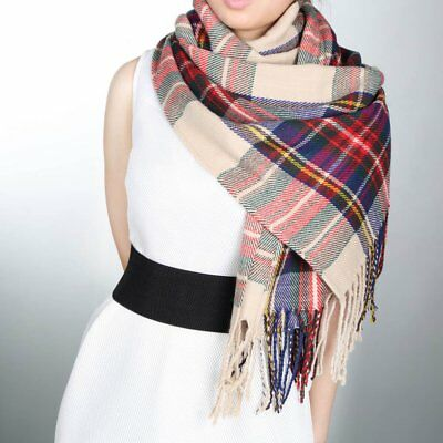 Blanket Oversized Tartan Scarf Wrap Shawl Plaid Cozy Checked Pashmina Women EKO