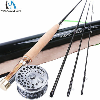 """2WT Fly Rod and Reel Combo 6'6"""" Medium-Fast Fly Fishing Rod & Classic Fly Reel"""