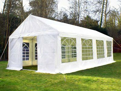 Great White Marquee 4m x 8m Heavy Duty PVC Wedding Party Tent Event Gazebo NEW