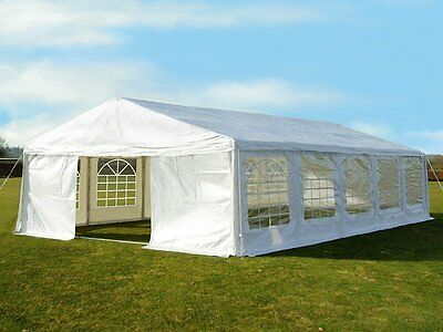 Great White Marquee 5m x 10m Heavy Duty PVC Wedding Party Tent Event Gazebo NEW