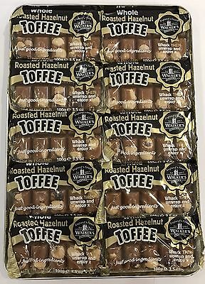 TRAY OF 10 x 100g SLABS OF WALKER'S NONSUCH TOFFEE - ROASTED HAZELNUT - UK