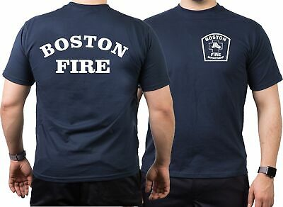 T-Shirt navy, Boston Fire Dept., Workshirt