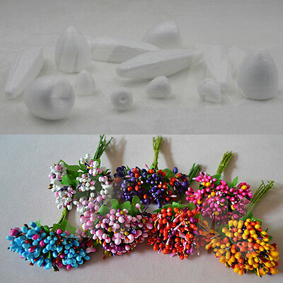 Polystyrene Styrofoam Foam Rose Buds DIY Handmade Decorations Flower NEW