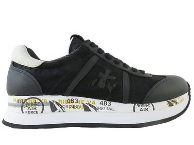 Scarpe-Shoes Premiata Donna Sneakers Conny Nero Pelle 1806 n.36 39