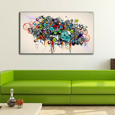 Graffiti Art Stretched Canvas Prints Framed Wall Art Home Decor Gift Painting